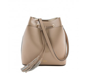 Saffiano Leather bucket bag